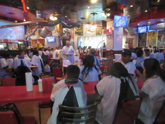 Fremont Street Experience: Heart Attack Burgers In Restaurant