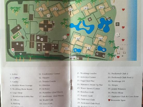 Dreams Palm Beach Punta Cana Map Of The Resort