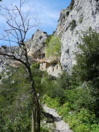 Gorges de Galamus: Внутри грота
