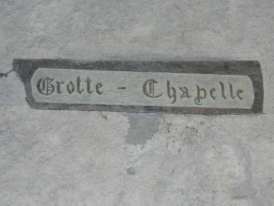 Gorges de Galamus: Указатель в камне