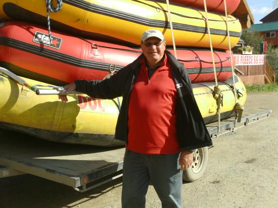 Denali Outdoor Center: Here I am next to the rafts