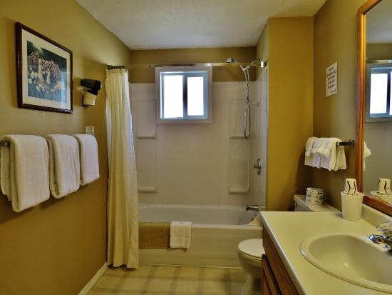 Park Motel : Family Suite #28: Large Bathroom