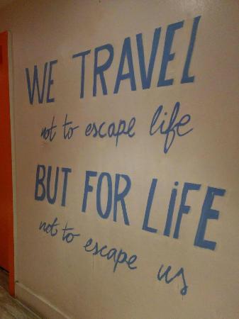 SoBe Hostel: nice quote