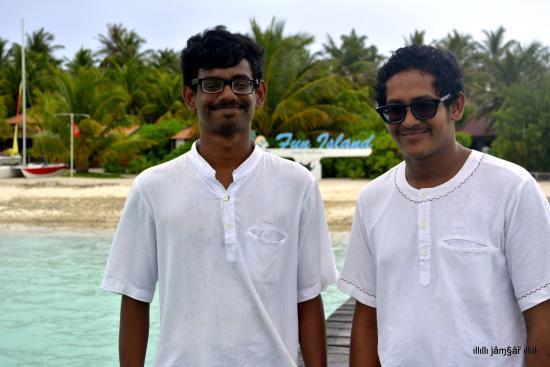 Bodufinolhu Island: Resort Reception Staff -Shaaill and Jawad