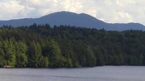 Saranac Lake Islands Public Campground: View from campsite 1 Eagle Island