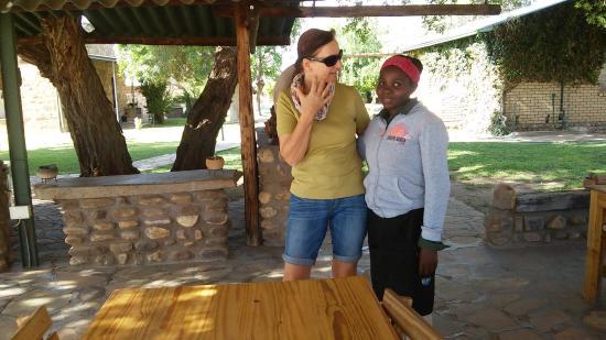 Ondekaremba: sehr freundliches und hilfsbereites Personal