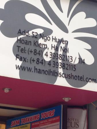 Hanoi Hibiscus Hotel: название и адрес отеля