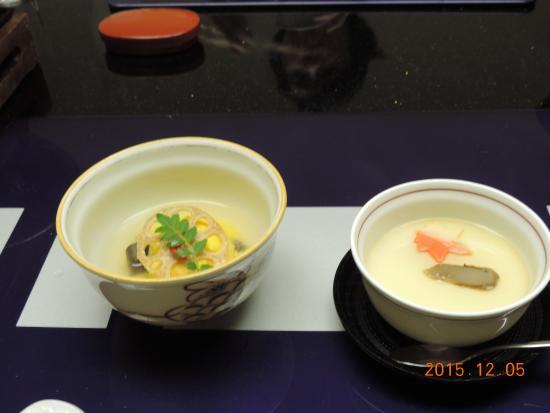 Juhachiro: 南瓜饅頭と松茸茶碗蒸し