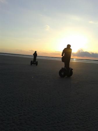 Mobilboard Le Touquet: Balade sur la plage ay coucher de soleil