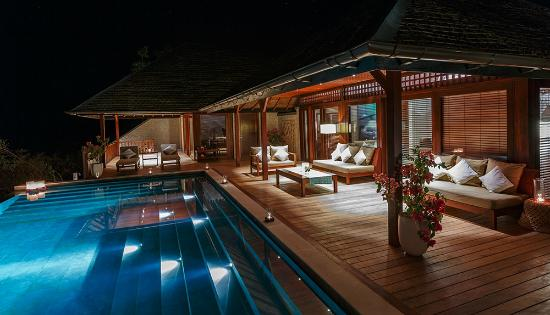 Wakatobi Dive Resort: The deck at Villa two provides a relaxing ambiance for unwinding under the stars.