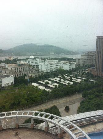Ningbo World Hotel: 部屋からの眺め。