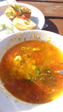 Schlehdorf, Alemania: Fisch Suppe