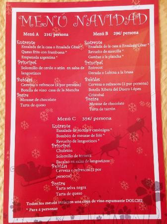 Menu de navidad malaga
