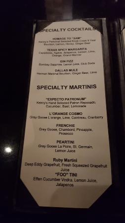 special drink menu picture of kenny s wood fired grill dallas
