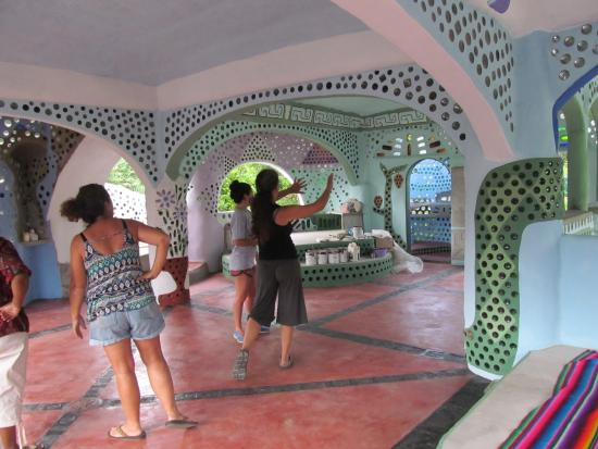 Punta Gorda, Belize: 'Earthship' palace of recycled materials shown by architect and owner