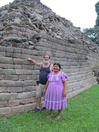 Punta Gorda, Belize: with our guide Maria at Lubaantun