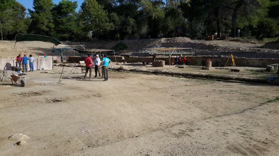 Olimpia antica (Archaia Olympia): Scavi in corso