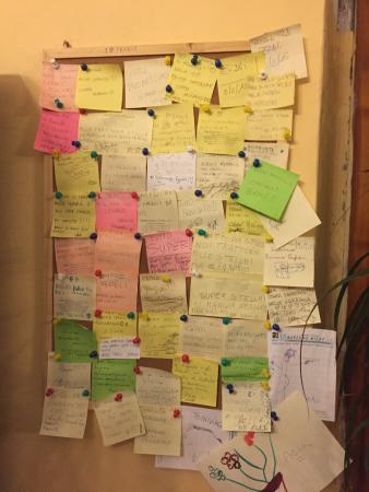 Piozzano, Италия: Trattoria Stella - I post-it dei clienti