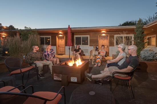 Wall Street Suites: Our communal fire pit