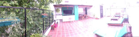 Reina Madre Hostel: Hostel Terrace and Parilla