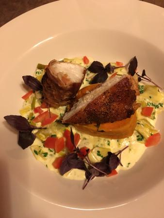 The George and Dragon at Swallowfield: Monkfish wrapped in Parma ham
