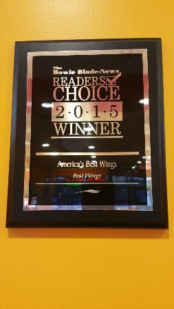 Bowie, MD: America's Best Wings