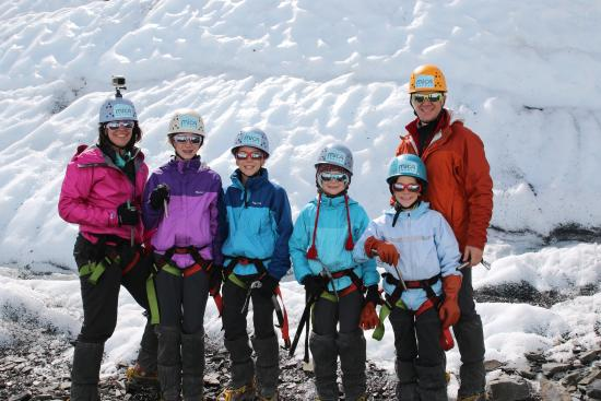 Glacier View, AK: Smiles after conquering the wall, twice!