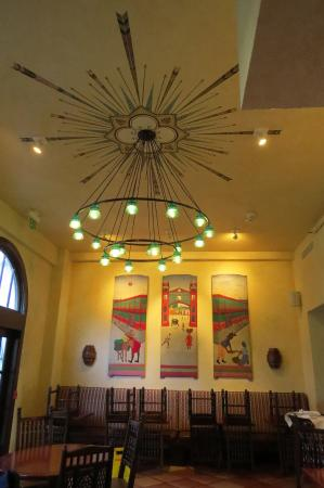 Holland Hotel: Downstairs Restaurant, Century Grill, with Antique Insulator Light