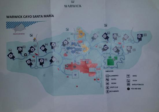 map of the hotel and pool area Picture of LABRANDA Cayo Santa