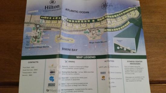 Bimini: Hilton Map of Resort Grounds