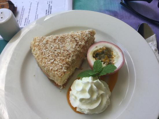 Koru Cafe: This is the best!  Coconut cheesecake and passion fruit! Yum!