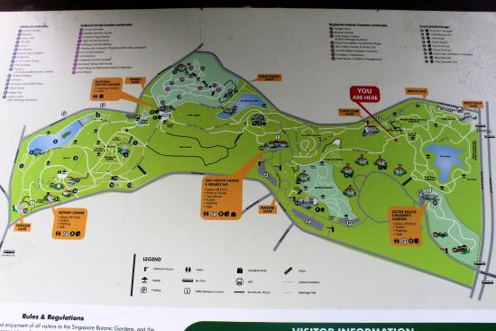 Map Of The Botanic Garden Picture Of Singapore Botanic Gardens - Us botanic garden map