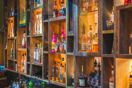 The Queens Tavern: Unique Back Bar Design