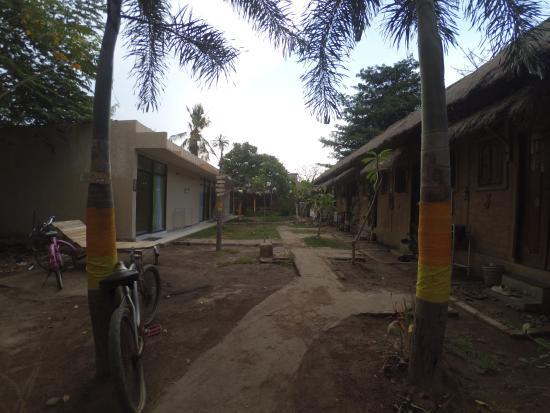Baleku Homestay Trawangan: дворик
