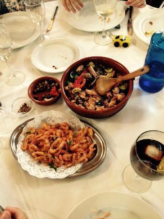 La Cassoleta d'Arròs: cassoleta de verduras con gambas y chipirons
