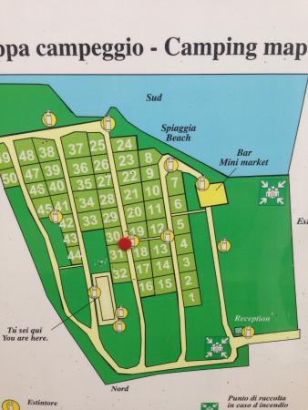 Camping La Spiaggia: Lageplan