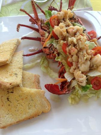 Asau, Samoa: Lobster salad