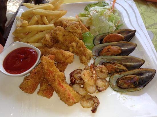 Asau, Samoa: Seafood platter