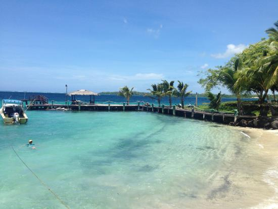 Asau, Samoa: The view from the dining area