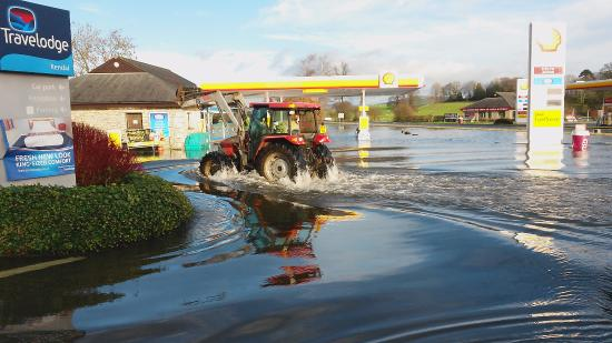 Travelodge Kendal: Its a bit deep this morning !