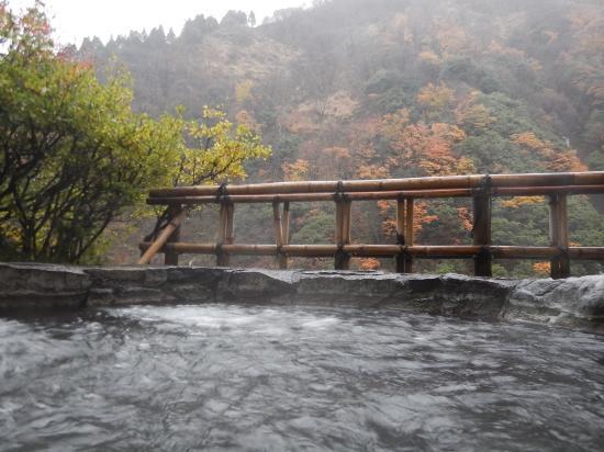 Entaijiso: 大浴場の露天風呂。景色がいい。