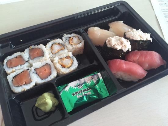 Sushi & More: Non-veg platter (14 pcs) Started eating before the pic :D