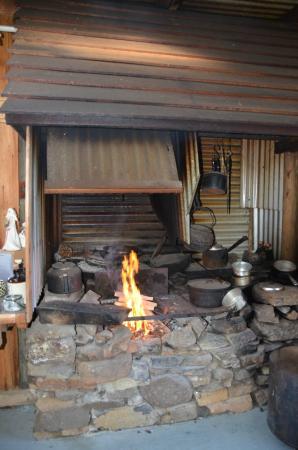 Heimat Chalets: log cabin fire