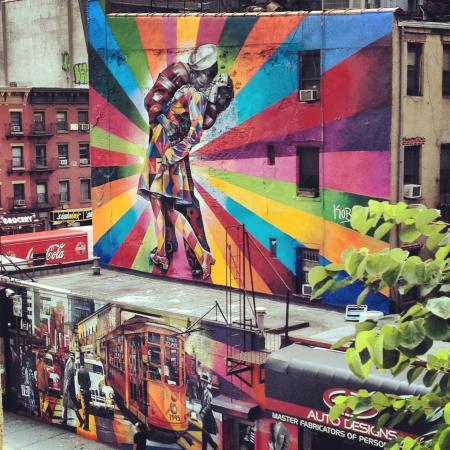 The High Line: Mural Feito Pelo Kobra, Baseada Na Foto  Part 78