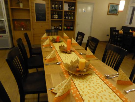 Holzminden, Alemania: gedeckt für Thanksgiving