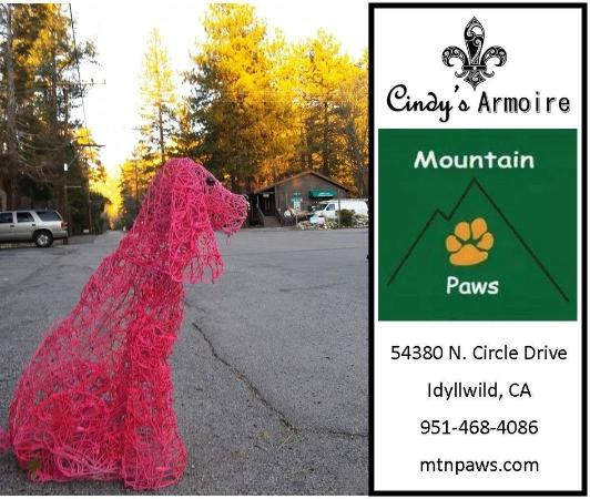 "Idyllwild, Califórnia: Look for ""Pink"" out Front of Shop"