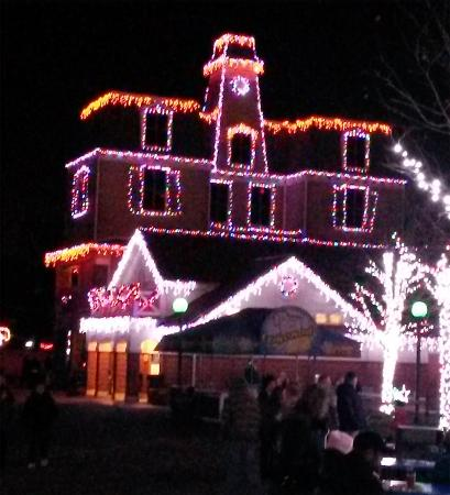 Kennywood Christmas.One Of The Operating Rides At The Park During Holiday Lights
