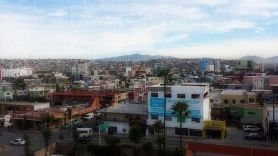 Palacio Azteca Hotel: morning view from my window