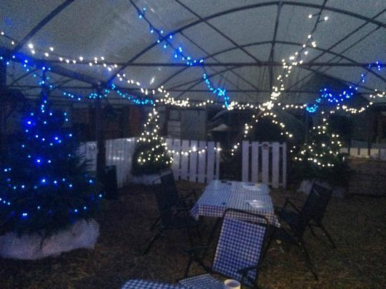 Wotter, UK: The outside undercover courtyard Christmas 2015