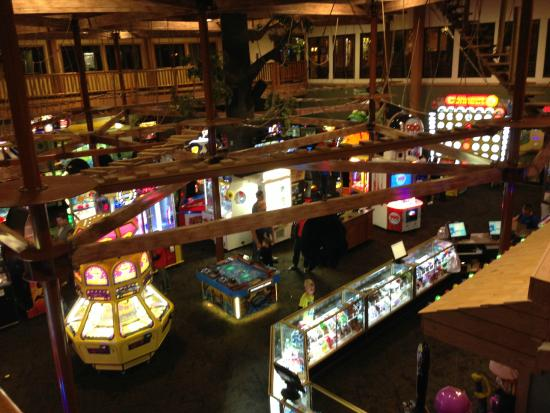 Wilderness Resort: One of several gaming areas.